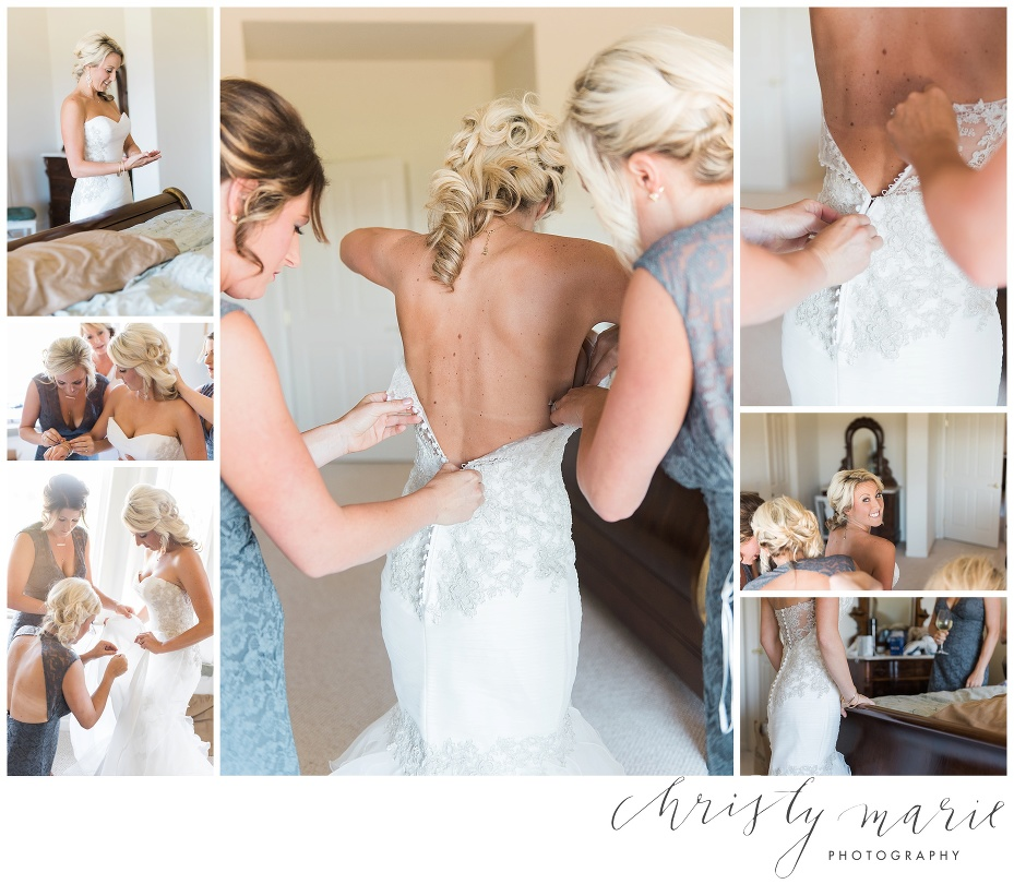 north bay brides, getting ready, christy marie photography