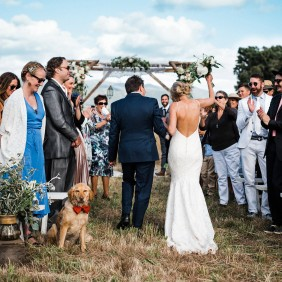 getting ready, yokayo ranch wedding, bohemian bride, bohemian wedding, lillian-west gown, wedding vows, sonoma county wedding photographer, lace wedding gown, mens suit, hand written vows, wedding, rustic elegance, tweed suit, groom getting ready, ceremony site, field wedding, bohemian ceremony
